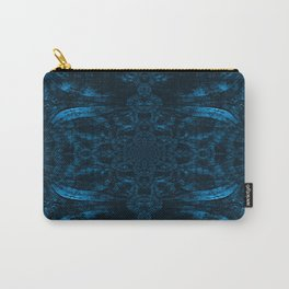 Blue Wood Paisley Carry-All Pouch