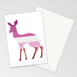 Lesbian Flag Doe Stationery Cards
