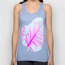 Abstract Tropical Leaf (Close Up) Unisex Tank Top