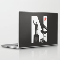 1975 Laptop & iPad Skins featuring Neto 11Nov 1975 Black by Angola