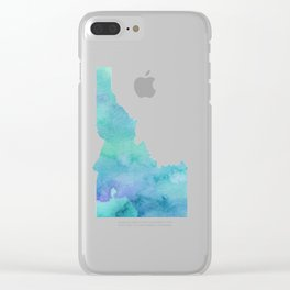 Watercolor Idaho Clear iPhone Case