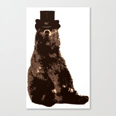 Bear in Top Hat Canvas Print