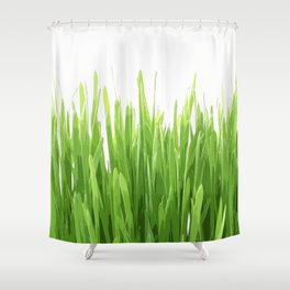 liaves rice Shower Curtain