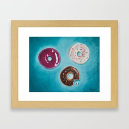 Variety of Donuts / Oil Painting Framed Art Print