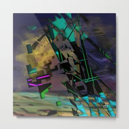 Phased Shifted Spacetime Metal Print