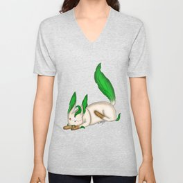 Playing with Leaves Unisex V-Neck