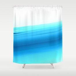 Turquoise Aqua Ombre Shower Curtain