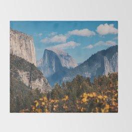 Yosemite in Fall Throw Blanket