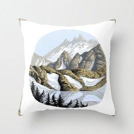 AN ALPINE LAKE Throw Pillow
