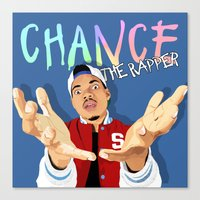 chance the rapper Canvas Prints featuring Chance The Rapper by MikeHanz