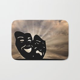 The masks of the theater signify comedy and tragedy, happiness and sadness, Pathos. Bath Mat