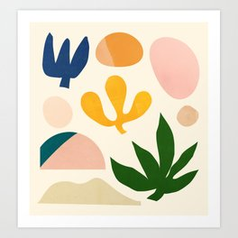 Abstraction_Floral_001 Art Print