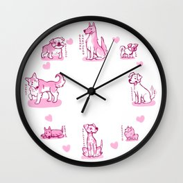 Puppies Wall Clock