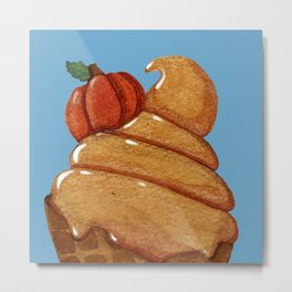 Pumpkin Custard Metal Print