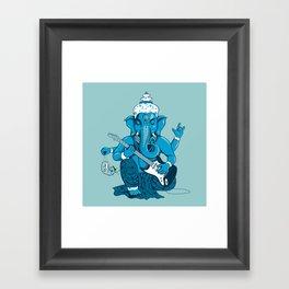 Ganesha rocks ! (v3) Framed Art Print