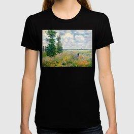 Poppy Fields near Argenteuil by Claude Monet T-shirt