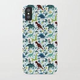 Dinosaur Days (Smaller Print) iPhone Case