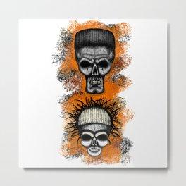 Yolandi and ninja style ErrorFace Skulls Metal Print