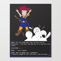 chrono trigger Canvas Prints featuring Chrono Lost by Sampsonknight