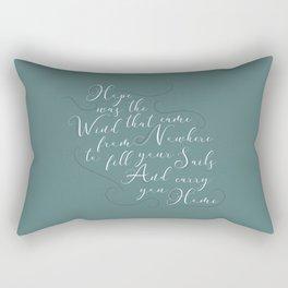 Hope Was The Wind Rectangular Pillow