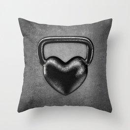 Kettlebell heart / 3D render of heavy heart shaped kettlebell Throw Pillow