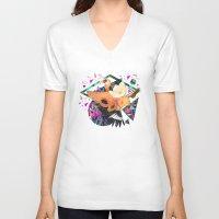 kris tate V-neck T-shirts featuring PAPAYA by Carboardcities and Kris tate by cardboardcities