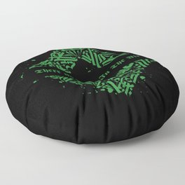 There Is Magic In The Air - Green Celtic Pattern Floor Pillow