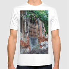 Old Colonial Building Mens Fitted Tee MEDIUM White