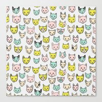 kittens Canvas Prints featuring Kittens by Elisa MacDougall