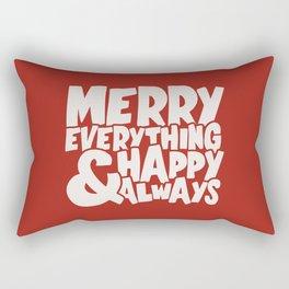 Merry Everything Happy Always Rectangular Pillow