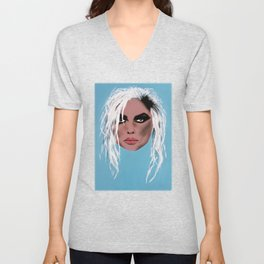 Lady of the eighties - Painting Unisex V-Neck