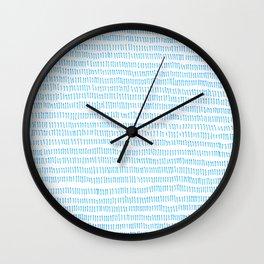 Blue grass - a handmade pattern Wall Clock