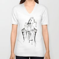 army V-neck T-shirts featuring Dumbledore's Army by Jena Sinclair