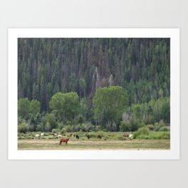 Happy Hour on the Ranch Art Print