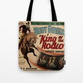 Vintage Western Movie Poster Rodeo King Tote Bag
