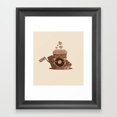 Caffeinated Love Framed Art Print