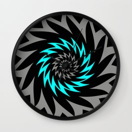 CYAN SAWBLADE Wall Clock