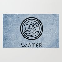 avatar the last airbender Area & Throw Rugs featuring Avatar Last Airbender - Water by bdubzgear