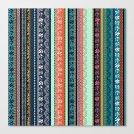 Bohemian Tribal Stripe Canvas Print