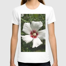 Hibiscus, White T-shirt
