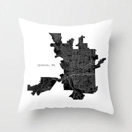 Spokane, WA Throw Pillow