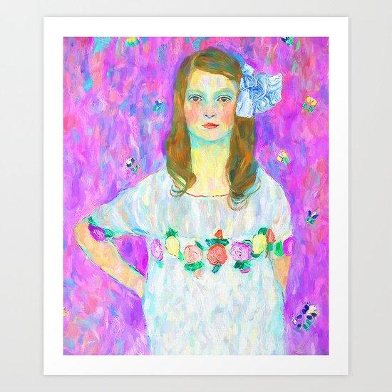 After Klimt - Portrait of Mada Art Print