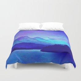Cerulean Blue Mountains Duvet Cover