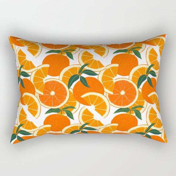 Orange Harvest - White Rectangular Pillow