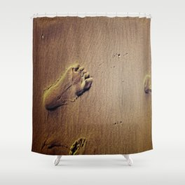 Feet on Sand-Brown Shower Curtain