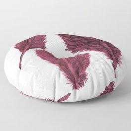 Feather Collection - bordeux Floor Pillow