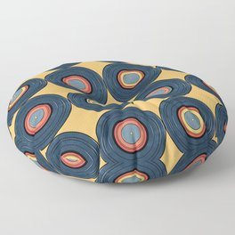 Record Pattern Floor Pillow