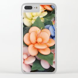 Sugared almonds as petals Clear iPhone Case