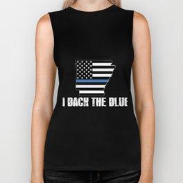 Arkansas Police Appreciation Thin Blue Line I Back The Blue 2 Biker Tank