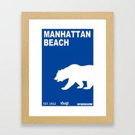 Manhattan Beach.  Framed Art Print